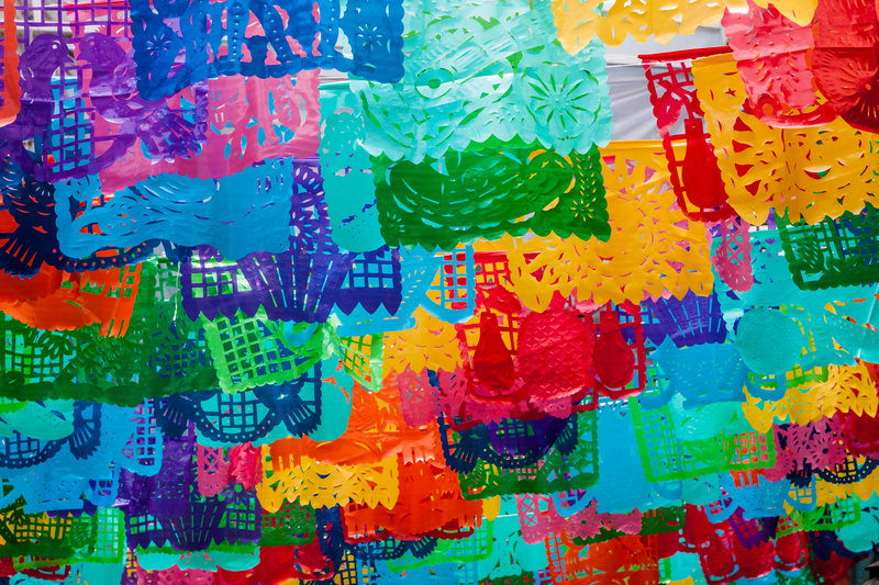 traditional mexican papel picado decorations
