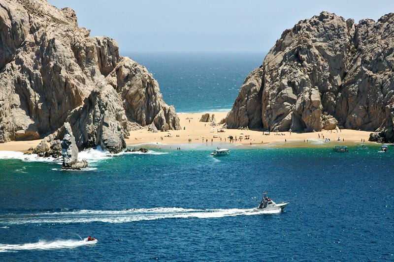 Lovers beach at cabo san lucas mexico