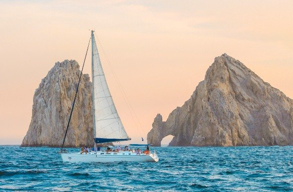 See Cabo Sights on Luxury Sunset Sailing Tour