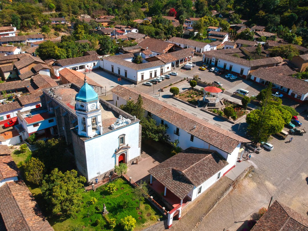 aerial view of san sebastian del oeste jalisco mexico