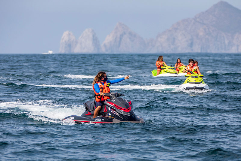 Jet skiing in Cabo