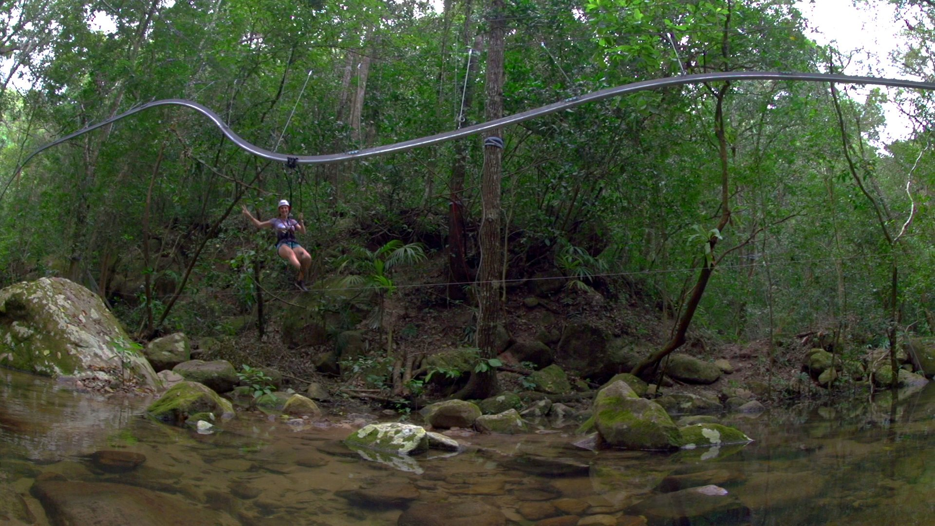 roller coaster zipline over a river in puerto vallarta