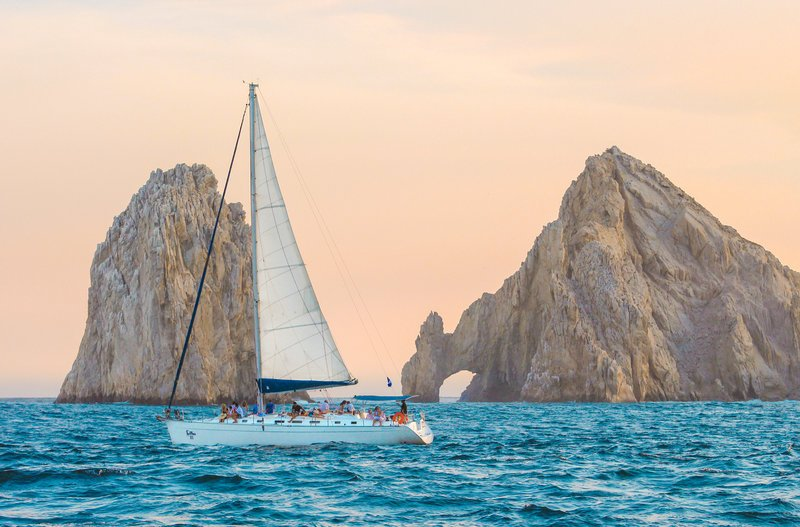 luxury sunset sailing in cabo