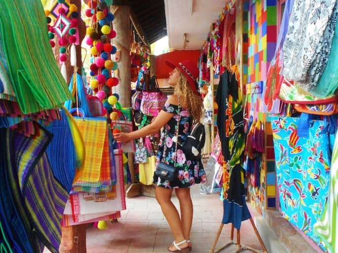 Woman exploring Mexican shops