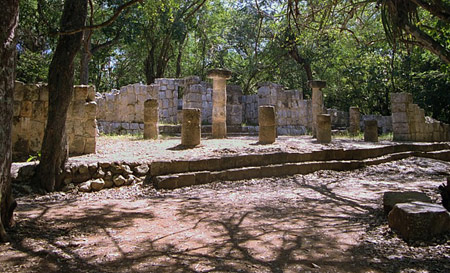 The restored ruins of the Xtoloc temple at Chichen Itza