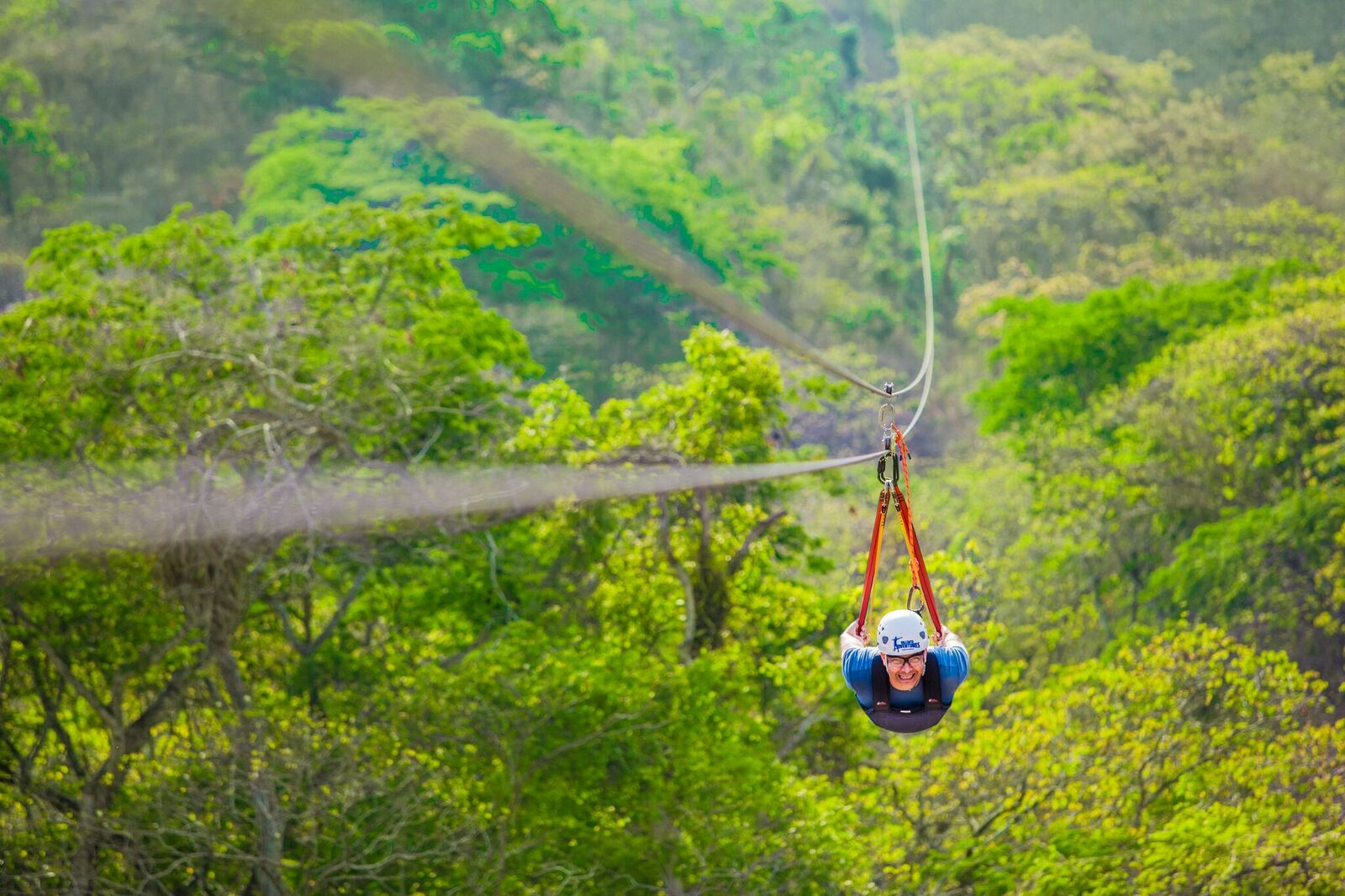 zip lining head first over puerto vallarta jungle