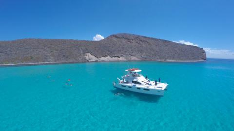 catamaran in the sea of cortez