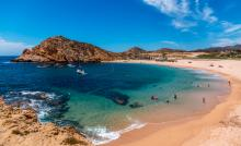 swimmable beach in cabo mexico